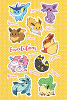 Eeveelutions by miaow