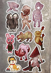 Silent Hill Monsters by miaow