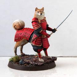 Battledoge - Akita Samurai by miaow