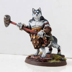 Battledoge - Husky Barbarian by miaow