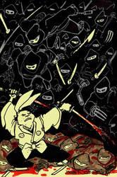 Usagi vs Ninjas by StubbedToe
