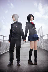 Mei Misaki and Koichi Sakakibara by YuuGray