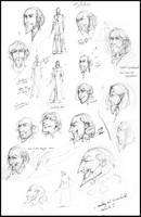 HP Grindelwald Sketches by nicholaskole