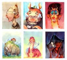 Watercolor Final - Critters by nicholaskole