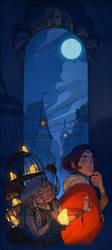 Twilight in Glo-frog City by nicholaskole