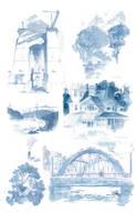 Watercolor in Wickford by nicholaskole