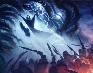 Maleficent - The Battle by nicholaskole