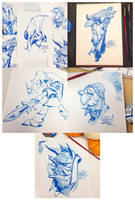 Recent Brush Inks by nicholaskole