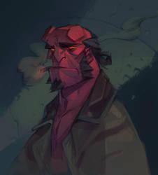 Hellboy by nicholaskole