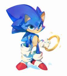 Sonic The Hedgehog by nicholaskole