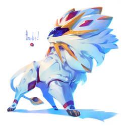 Pokemon Sun - Solgaleo by nicholaskole