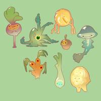Jellybots - Veggiebots by nicholaskole