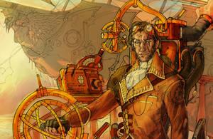 Steampunk Airship Pilot -Det.- by nicholaskole