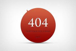 404 Error Page Design by freebiesgallery