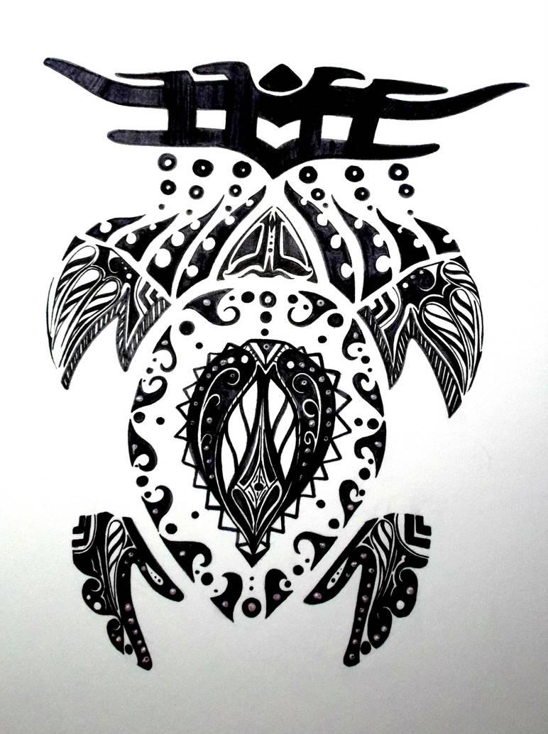 Tribal Turtle Tattoo Design By Emeza On Deviantart