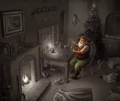 Santa's Helper by BrianLukArt