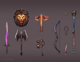 Weapon Set 4 by BrianLukArt
