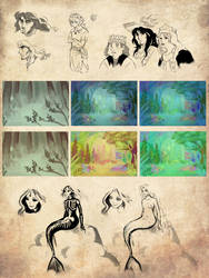 Alice et Wendy - Sketches by Royal-Flan