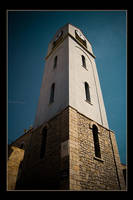 White bell tower by sekundek