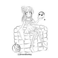 Happy Halloween Lineart by GreenBlankey