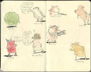 Pigs pigs pigs by MattiasA