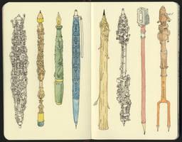 First pens of 2018 by MattiasA