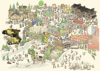 Illustration for Gallivare Information Center by MattiasA