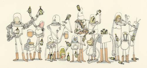 Business as usual at the Beer appreciation society by MattiasA