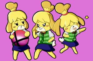 Isabelle - Animal Crossing/Super smash bros. Ultim by 8th-GradeF