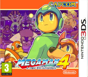 Megaman 4 3DS boxart by DBurch01