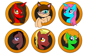 Brony Badge set 8 by DBurch01