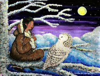 Snowy Owl Magic, by Christine Mix by ChrisMixArt