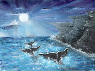 Whale's Journey Home, by Christine Mix by ChrisMixArt