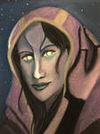 The face of Tali by Ellisis