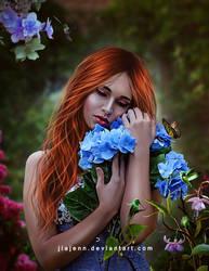 In my lovely blue by jiajenn