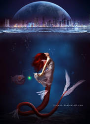 Mermaid undercity by jiajenn