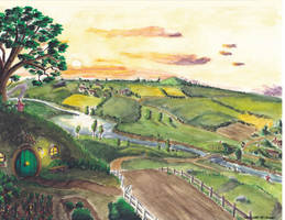 Bag End seen on the Shire by LePtitSuisse1912