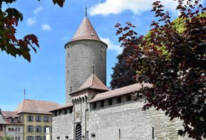 Le Chateau de Romont by LePtitSuisse1912