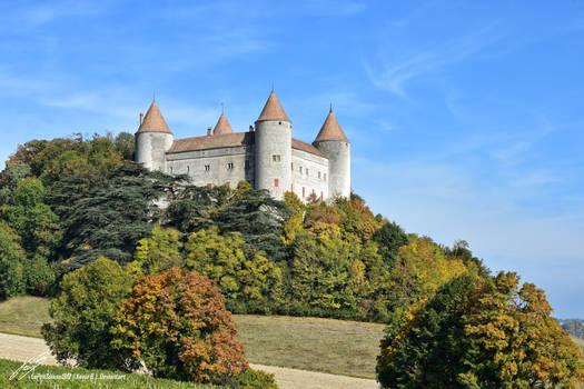 Chateau de Champvent en Automne by LePtitSuisse1912