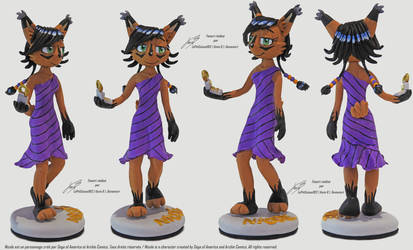 Nicole the Holo Lynx Figurine Fimo by LePtitSuisse1912