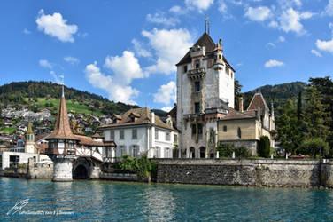 Chateau d'Oberhofen Vue Depuis Le Lac by LePtitSuisse1912