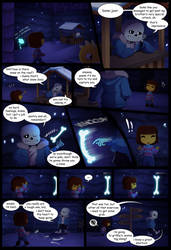 The scene that might play when you fight Sans by SeaSaltShrimp