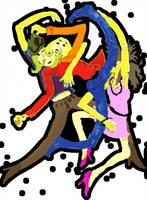Lesbian Love Triangle by imatt20