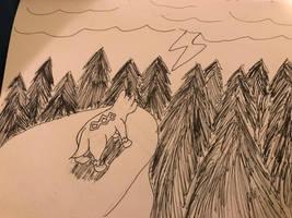 Inktober-2018- thunder by wolfyloveanime