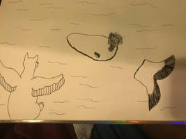 Inktober-2018-whale by wolfyloveanime