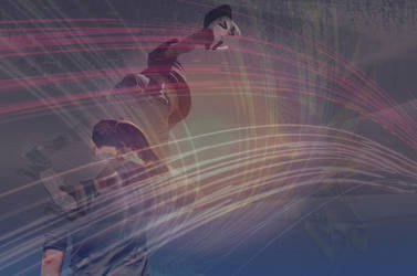 SK8 double exposure by Ethneomystica
