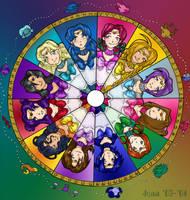 Elera's Zodiac Senshi Wheel by minimonster777