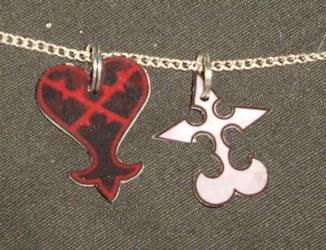 Heartless + Nobodies pendants by ykansaki