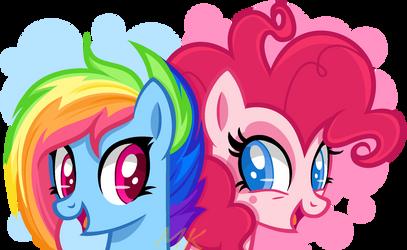 G5 Rainbow Dish and Pinkie Pink by xXMaiKhanhFlareXx