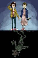 Stranger Things Fanart by DibujameUnCordero